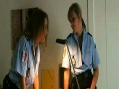 Excited Policewomen Get Mad in Locker Room