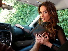 Glamorous French model with big boobs Anissa Kate nailed by the driver