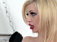 CFNM femdom Hannah Shaw humiliating bonded dude