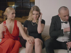 Sarah Vandella and her husband trick young assistant Giselle Palmer into threesome