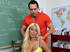 Very sexy teacher Bridgette B. fuck in classroom
