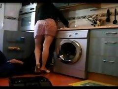 Wife teasing the plumber