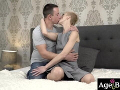 Granny Belinda takes every inch of Rob's throbbing cock