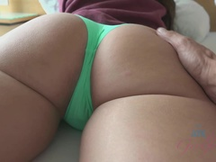 A little ass grabbing in the morning gets her horny for a creampie