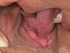 Japanese darling has her hairy and pink pussy licked by her lover