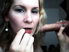 Hot Mom i`d like to fuck lipstick fetish blowjob