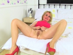 English mom i`d like to fuck Diana wears white knickers over tights