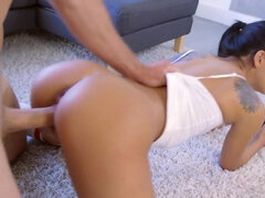 Latina goddess with big tits gets banged hard and deep by her man