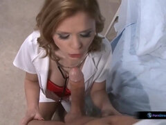 Nathasa Brill is a steamy nurse who loves to nail patients, every once in a while