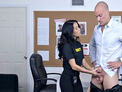 Hot security officer inspects whats inside my pants