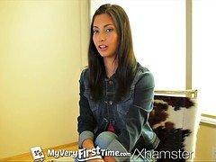 MyVeryFirstTime - Nervous Jade Jantzen has her first DP