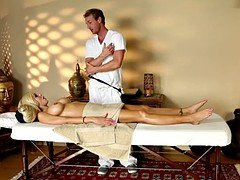 Bigtits milf banged on the massage table