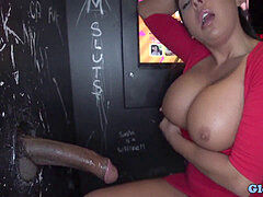 Latina inhaling gloryhole big black cock before pulverizing