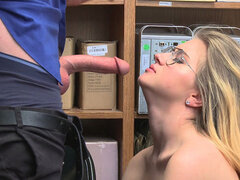 Shoplifter Taylor Blake gets nail by dudes LPs big penis