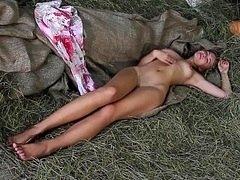 Euro country gal posing