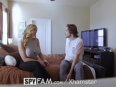 SpyFam Stepson has an intercourse busty stepmom Olivia Austin