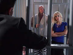 A blonde sweetie is getting fucked real hard in the prison