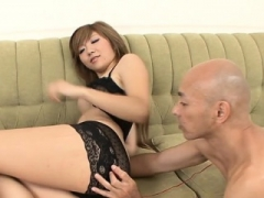 Oriental screwed hard leaving cum to run from her taut slit