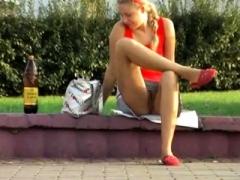 Public Upskirt Voyeur Hidden camera