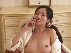 Japanese Domina makes cunnilingus to Slave.