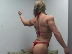 Sexy Woman Bodybuilder Maria Garcia Strips Off Her Dress