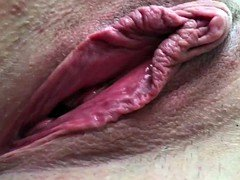 Inexperienced Wife Glamorous Vag Open Gape Big Labia Clit Cum