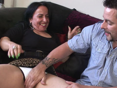 Mature brunette slut is ready to get her tight love hole rammed by a stud