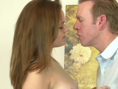 18-19 year old chick Tammy takes his big penis and his hot load