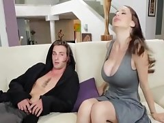 StepMom gives him Blowjob for confidence