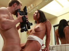 Lad has fun with hot babe on toilet and additionally films sex on a camera