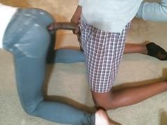 Masturbating On Wife's Tight Jeans
