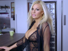 Hot blonde gal that has splendid large tits is getting penetrated