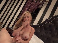 A blonde with an terrific rack is getting her good tits fucked