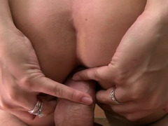 Freaky brunette honey blows off a love tool and gets her twat rammed in Point of view