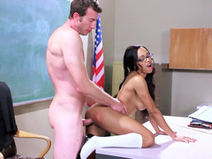 A excited schoolgirl is penetrated by her profligate teacher
