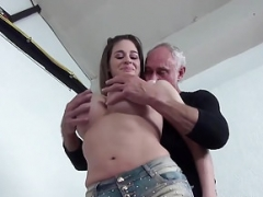 Cathy Heaven getting down and dirty with Grandad Ben Dover
