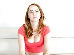 MyVeryFirstTime Ginger Leigh Rose tries backdoor for first time