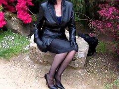 Leather grown-up on stilettos