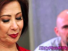 Old Far eastern gal gives sex lesson