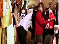 Asiatic chick is groped and also dry humped in the clothing segment