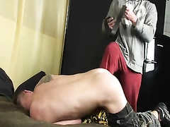Domination & Submission victim gay man trussed nailed schwule jungs