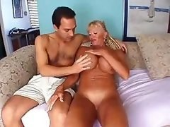 Granny has some large jugs & gets down and dirty & gives head a hard purple pole
