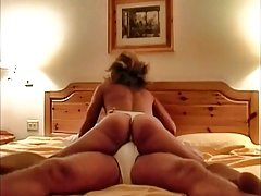 Dame dry humping in thong