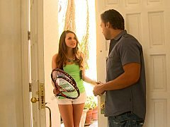 Allie Haze giving blowjob her friend's brother