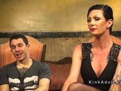 Tall transexual in panties anal has an intercourse dude
