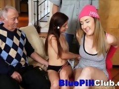 Hot Teenager Lezzies Have an intercourse Party With A couple of Old Dudes