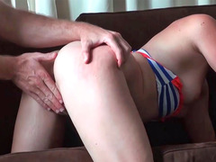 Olivia O'enjoy sucking cock and also getitng destroyed in doggy style