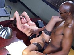 A black lad is penetrating his colleague at a police station