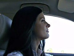 Charming Soccer mom with a  impeccable body try's out a huge black c