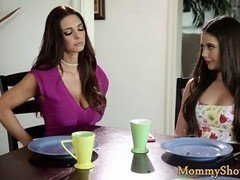 Pussylicking eager mom seduces her stepdaughter